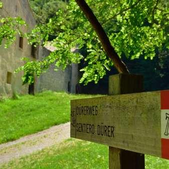 Der Dürerweg bei St. Florian / Il sentiero Dürer a S. Floriano
