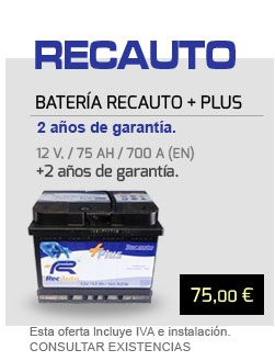 Oferta batería Recauto Plus