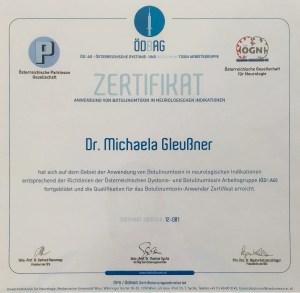 ÖDBAG Zertifikat Dr. Michaela Gleußner