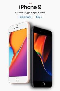 """""""iPhone 9""""はまだ発売していないよ!みんな騙されないようにね!!"""