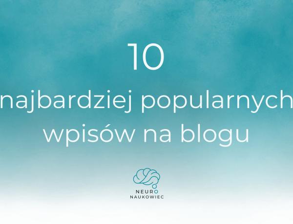 10 najlepszych wpisów o mózgu