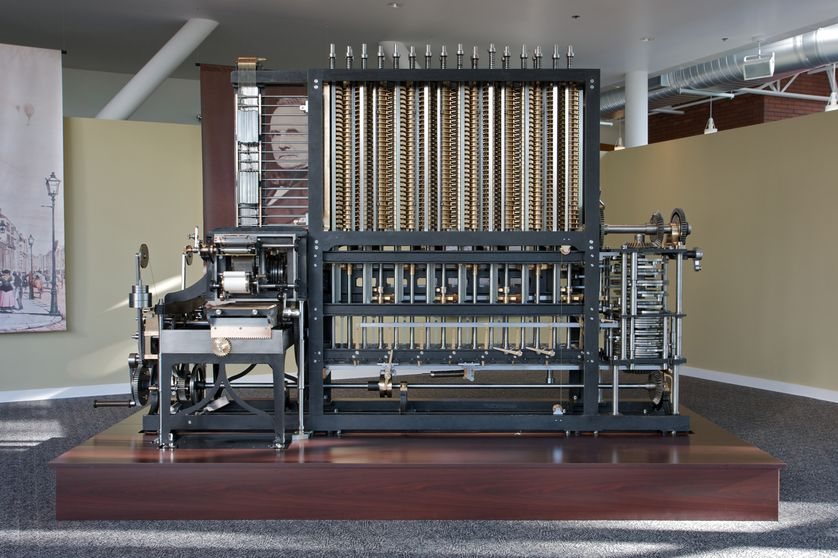 A recreation of Charles Babbage's Difference Engine No. 2