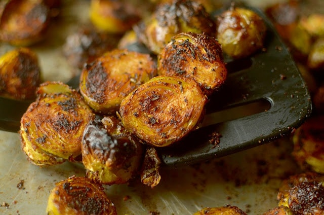 Barbecue Spiced Brussels Sprouts by Athletic Avocado
