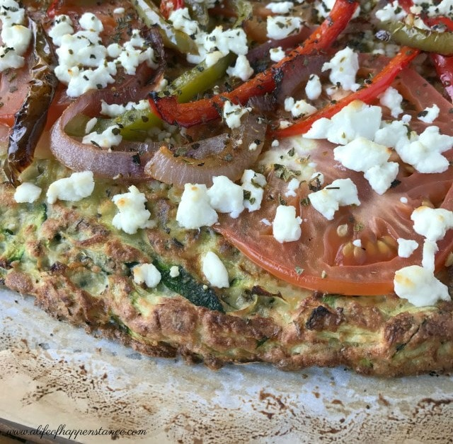 Zucchini Pizza Crust by A Life of Happenstance