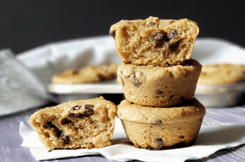 These Chocolate Chip Muffins are so good for you that you can't consider them a treat! Made mostly of almond flour, they're nutritious, lower in sugar and carbs than most muffins, free of most common allergens, Paleo and vegan. Treat yourself and nourish yourself with these grain-free chocolate chip muffins!