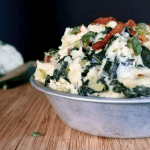 Mashed Cauliflower with Kale & Bacon a.k.a. Low Carb Irish Colcannon