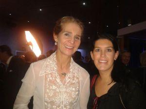 SAR Doña Elena de Borbon con Lucía Zumárraga, Directora