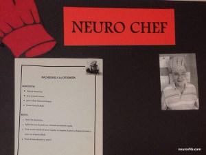 Mural que mostrará el paciente que hará de chef y la receta de la semana