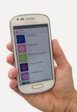 Imagen de la aplicación de daño cerebral en un móvil