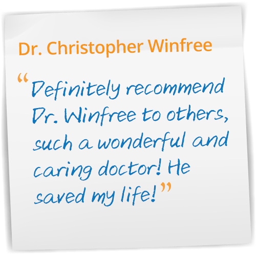 Dr Christopher Winfree Reviews