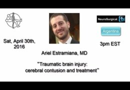 "Live Hangout, on ""Cerebral Contusions and the Treatment"", by Ariel Estamiana MD, Neurosurgeon from Argentina"