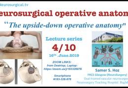 "WAS LIVE, Samer Hoz MD, Iraq Neurosurgeon, continued in his Series of ""Neurosurgical Operative Anatomy"" #4"