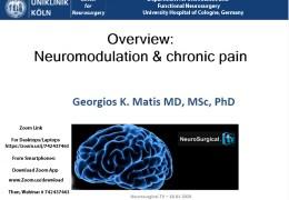 Saturday, 8 am EST, 3 pm CET, Webcast on Neuromodulation, with Georgios Matis presenting