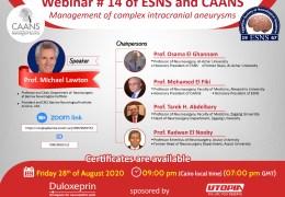 Live, Michael Lawton speaks for the Egypt Neurosurgery community at 9 pm Cairo time, 3 pm EST