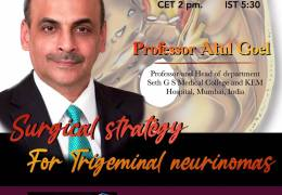 In less than 1 Hour……….Juha's China Neurosurgery Grand Rounds, with Atul Goel presenting…………