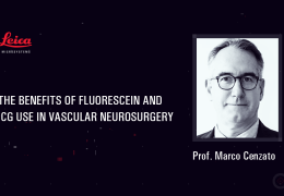 """LIVE, from the LEICA Symposium, """"The Benefits of Fluorescein and ICG Use in Vascular Surgery"""" with Prof Macro Cenzato"""
