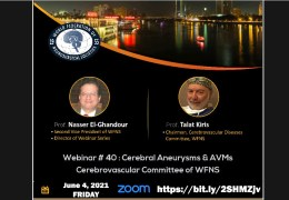 """(WAS) LIVE LIVE,  WFNS Webinar #40, """"Cerebrovascular Surgery"""" Webcast with CME Credit June 4, 2021"""