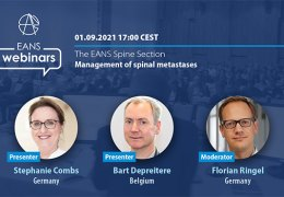 """Recorded LIVE Sept 1, 2021, Online, EANS Europe re-starts webinar series, with """"Management of Spinal Metastases"""""""