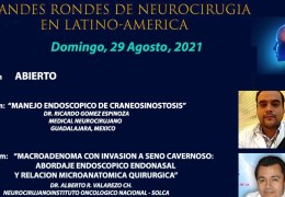 "AHORA, VIVO, Vivo, Conferencia con tema Neuroendoscopia, en ""Grandes Rondes de Neurocirugia en LatinoAmerica"""