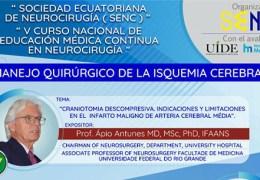 Viernes, 24 de Septiember, 8 pm CST, Grand Rondes de Neurocirugia en Ecuador VIVO