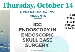 """LIVE, NOW, LIVE….., """"ICG Endoscopic Skull Base Surgery"""" by Indian ENTs Vinod Felix and Dr. Aneesa AM, of KIMS presenting, translated into Chinese and Japanese in Real Time!"""