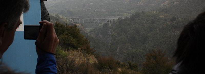Eine der vielen Brücken zwischen Christchurch und Greymouth