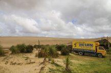 Sandboard Vermieter an den Dünen von Te Paki