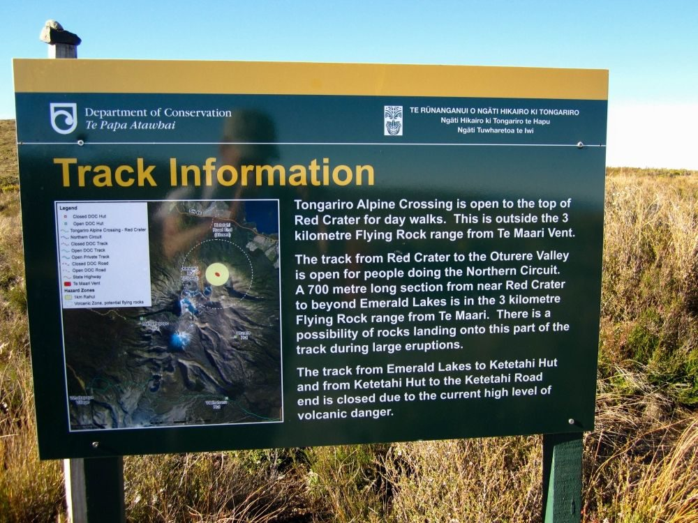Track Information Tongariro Alpine Crossing