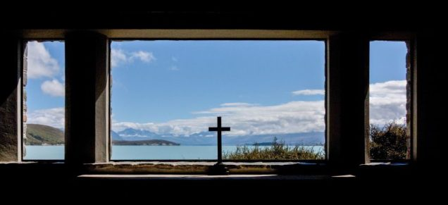 Lake Tekapo mit der Church of Good Shepherd