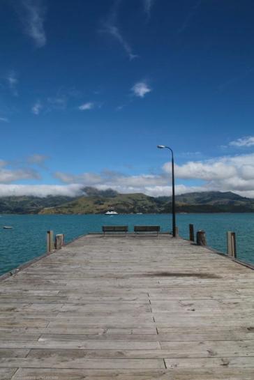 Die Pier zum Paradies - Akaroa bei Christchurch