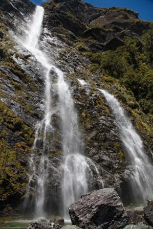 Earlland Wasserfall auf dem Routeburn Track
