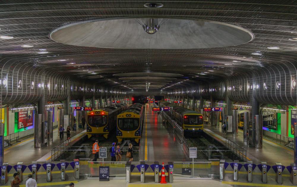 Der Hauptbahnhof von Auckland
