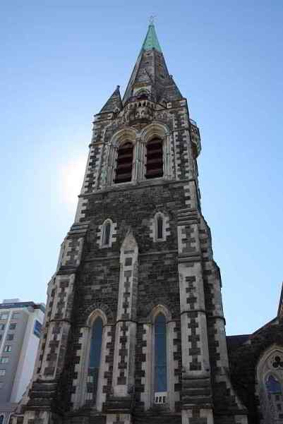 Turm der alten Kathedrale von Christchurch