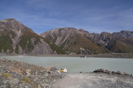 Tasman Lake in Neuseeland
