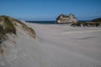 Sandünen an der Wharariki Beach