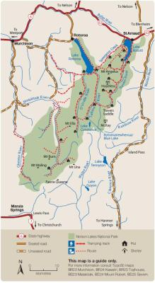 Karte des Nelson Lakes National Park