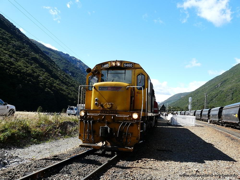 Kiwi Railway Station at Arthur's Pass Villiage