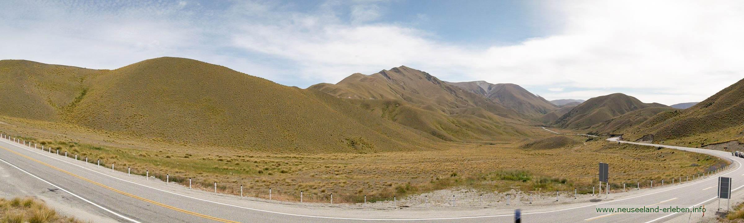 Lindis-Pass auf Neuseeland