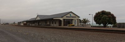 Der alte Bahnhof von Kaikoura ist jetzt die Wal-Station für alle Ausflüge.