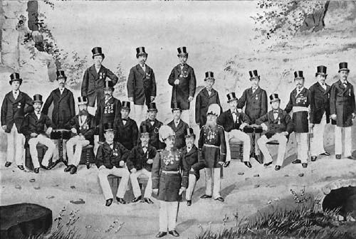 Schützen aus den 1870er Jahren