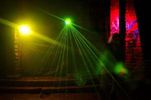 Lichtshow am Alaunplatz: - Foto: Marc McLovin