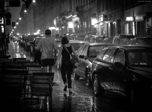- pelting rain - von Benjamin Schubert