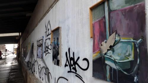 Street-Art-Galerie - gesehen an der Lößnitzstraße