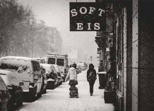 Soft-Eis auf dem Bischofsweg. Foto: Benjamin Schubert ... Anklicken zum Vergrößern.