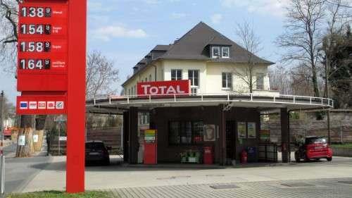 Die Tankestelle an der Bautzner Straße