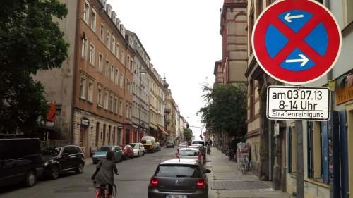 am Mittwoch, ab 8 Uhr Halteverbot auf der Südseite der Louisenstraße