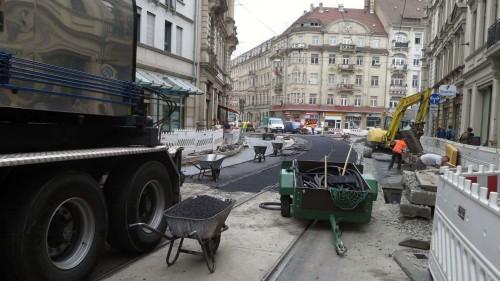 Endspurt bei den Bauarbeiten auf der Bautzner und der Rothenburger Straße