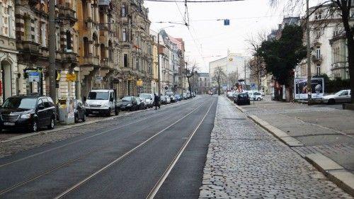Prachtstraße mit ohne Autos