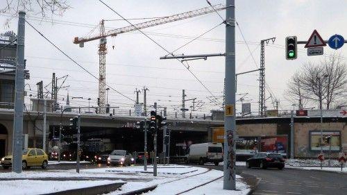 Eisenbahnbrücke über die Hansastraße