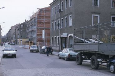 Alaunstraße in den frühen 1990ern